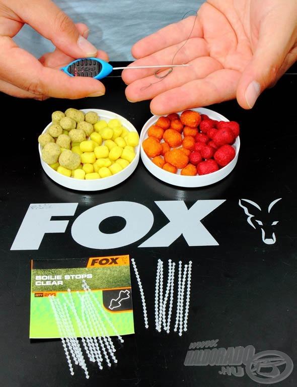 Szinte bármilyen csalihoz ideális méretű a Fox stopper