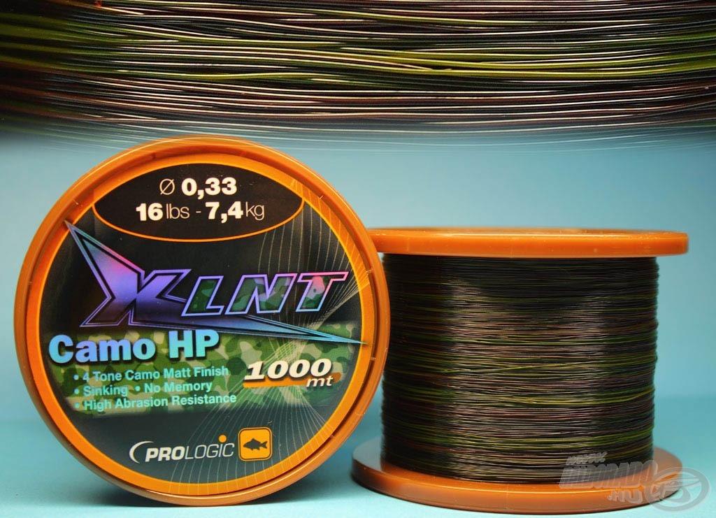 Az XLNT CAMO HP egy terepmintás színű süllyedő zsinór