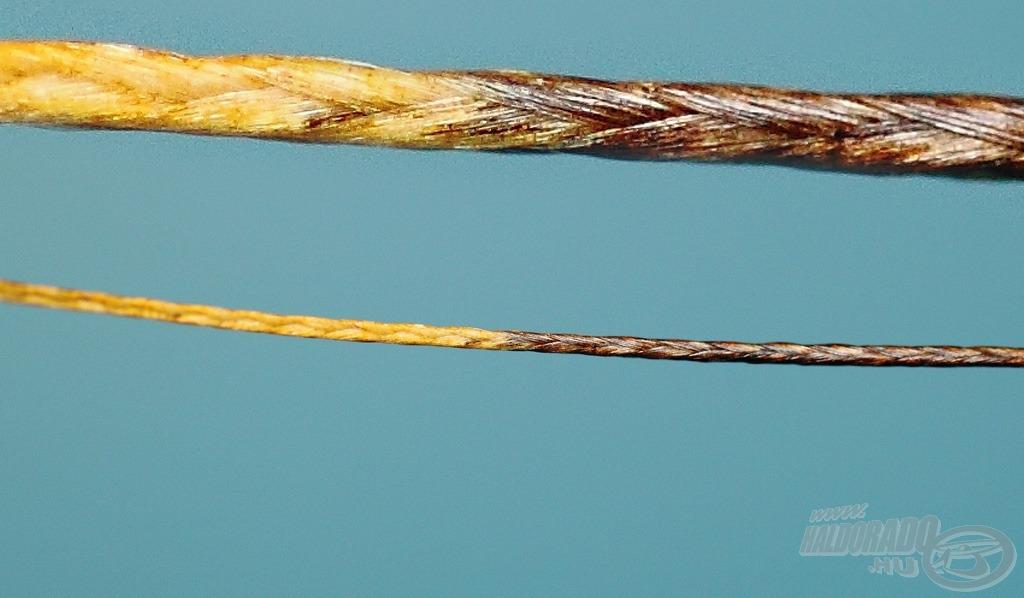 Különleges, kétféle barna tónussal készülő zsinór
