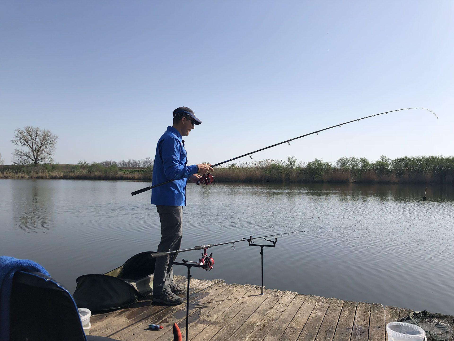 4 sikertelen dobás után úgy döntöttem, hogy megváltoztatom a horgászat és a dobások irányát