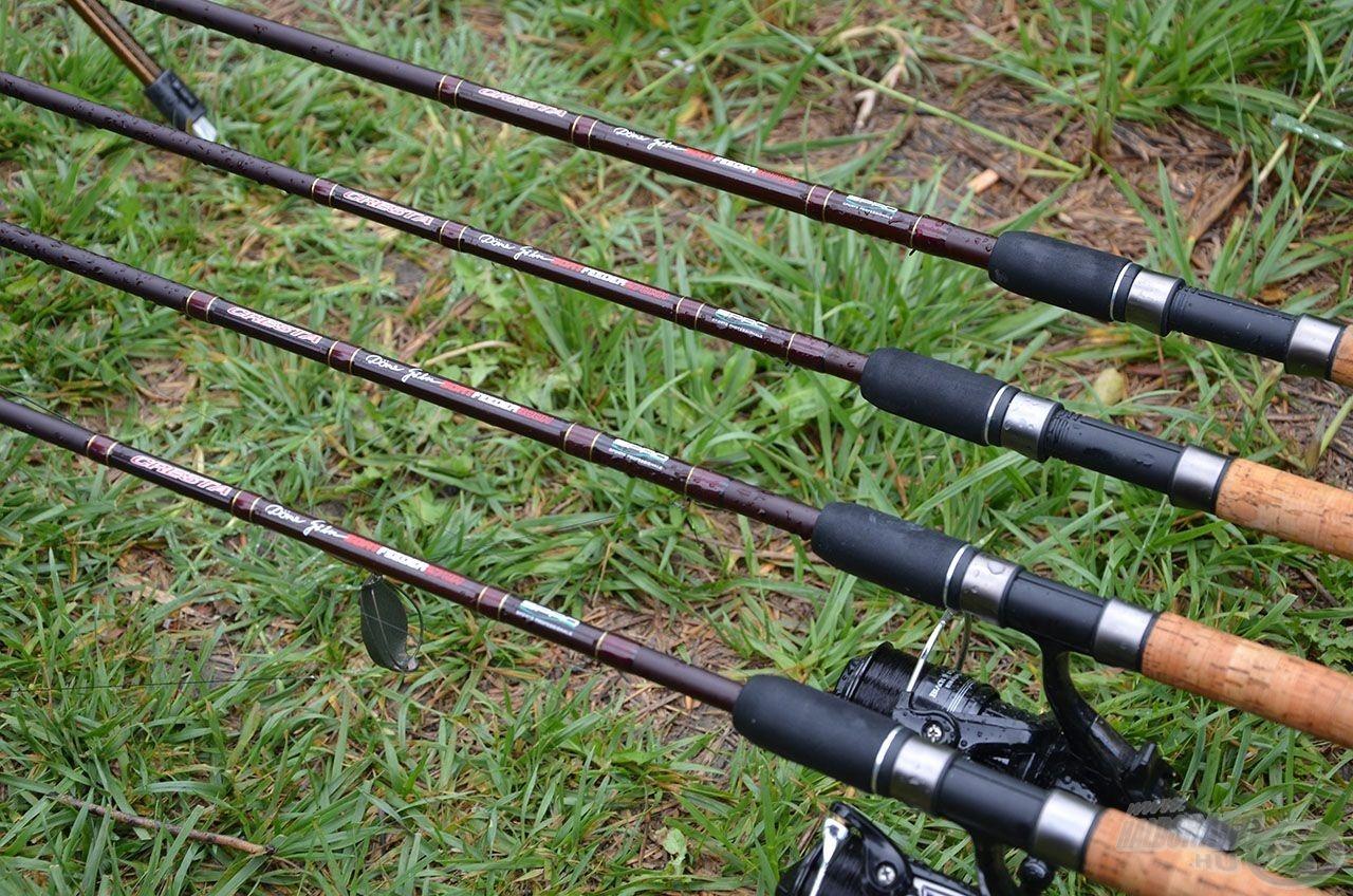 A 4 új rövid SPRO Team feeder közül a 270H és 300H botokkal horgásztam