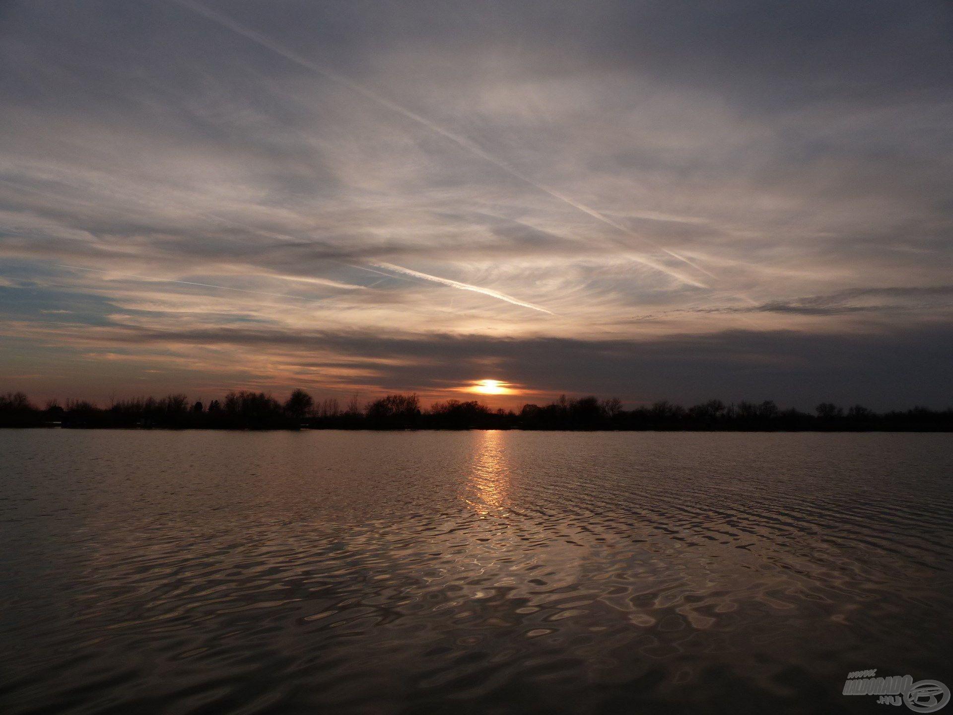 A naplemente egyet jelentett a horgászat végével