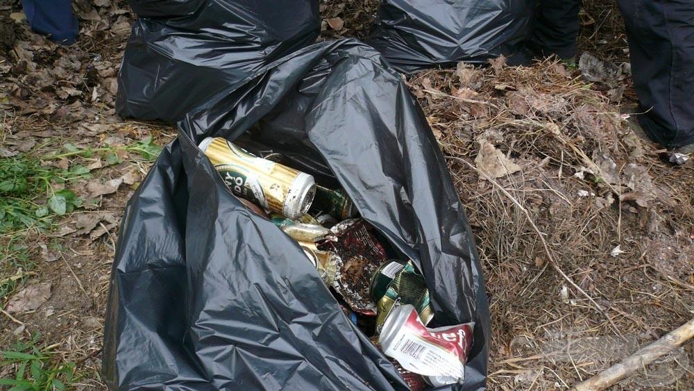 Nem meglepő módon az egyik leggyakoribb hulladék a sörösdoboz volt