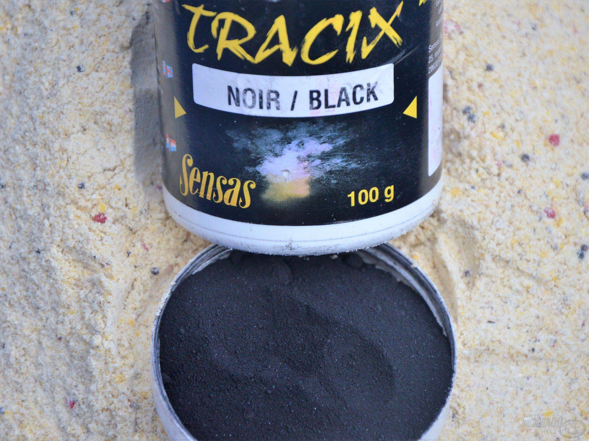 A Sensas Tracix fekete festékport főleg a versenyhorgászok használják