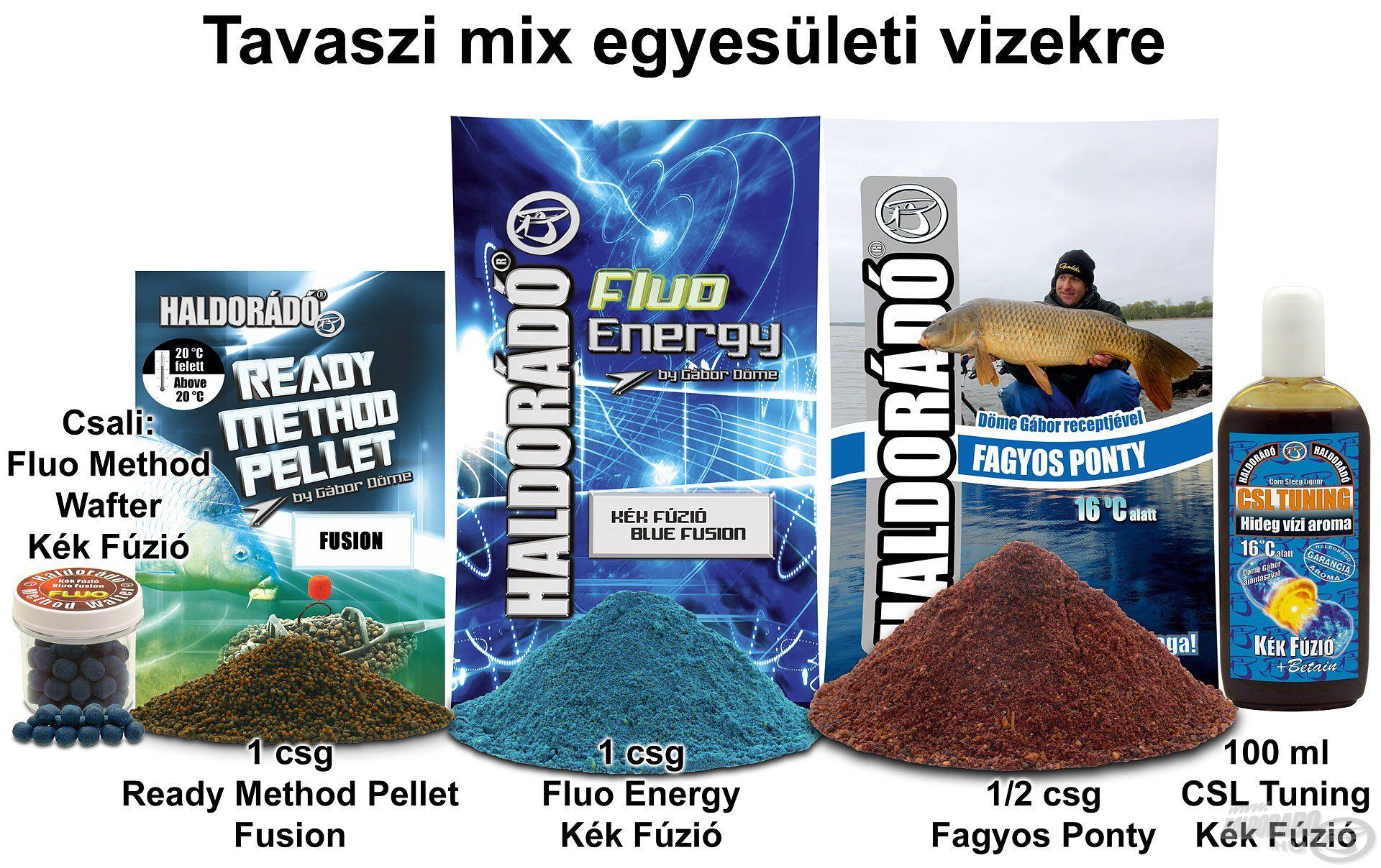 Tavaszi mix egyesületi vizekre