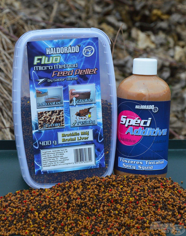 A Brutális Máj Fluo Micro Method Feed Pellet és a Fűszeres Tintahal SpéciAdditive nagyon ütős páros, ami hideg vízben is jól teljesít!