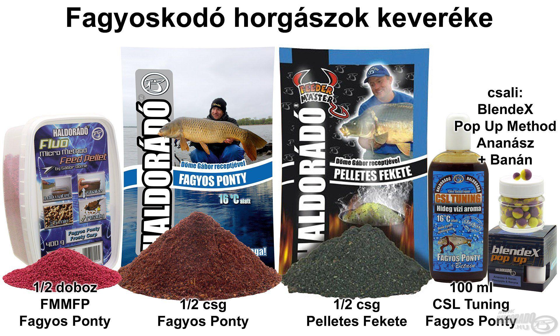 Fagyoskodó horgászok keveréke