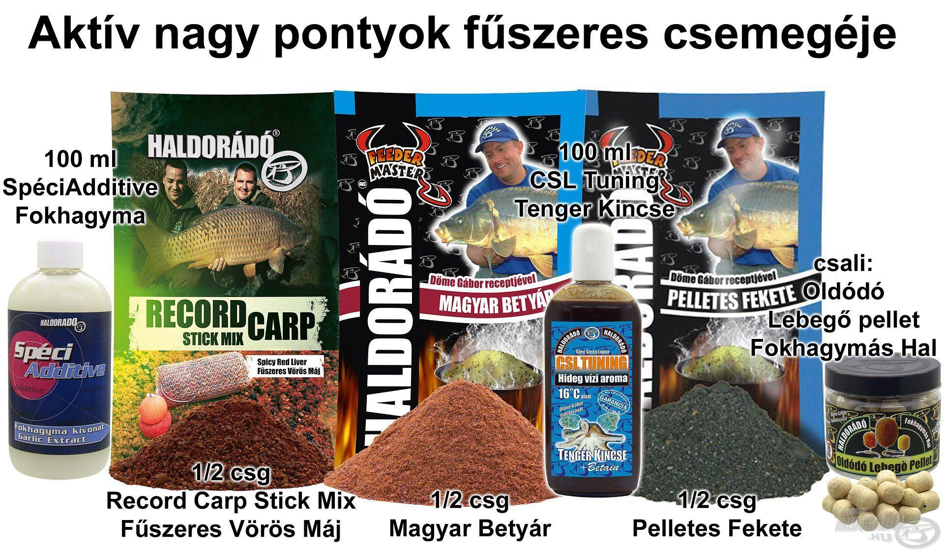 Aktív nagy pontyok fűszeres csemegéje