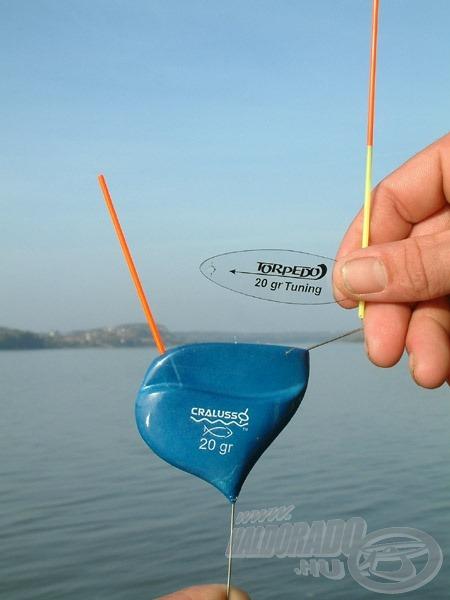 A Torpedo úszót egy Tuning lapka és 130 mm hosszú antenna segítségével 10 másodperc alatt lehet feltuningolni