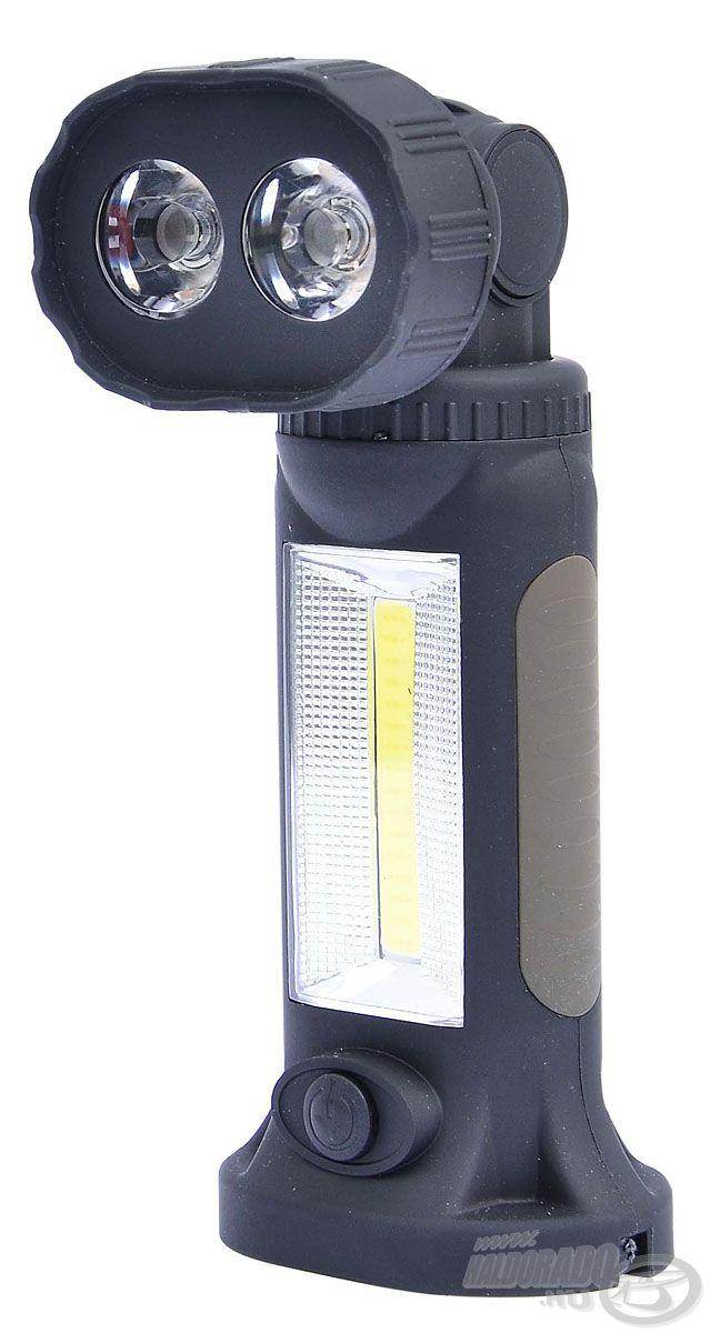 360 fokban elforgatható és 180 fokban dönthető fejjel rendelkező lámpa, nem csak horgászoknak!