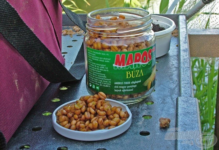 A horgon felkínált Maros Mix mézes-muskotályos búzát kellemes íze miatt hamarabb megtalálják a halak