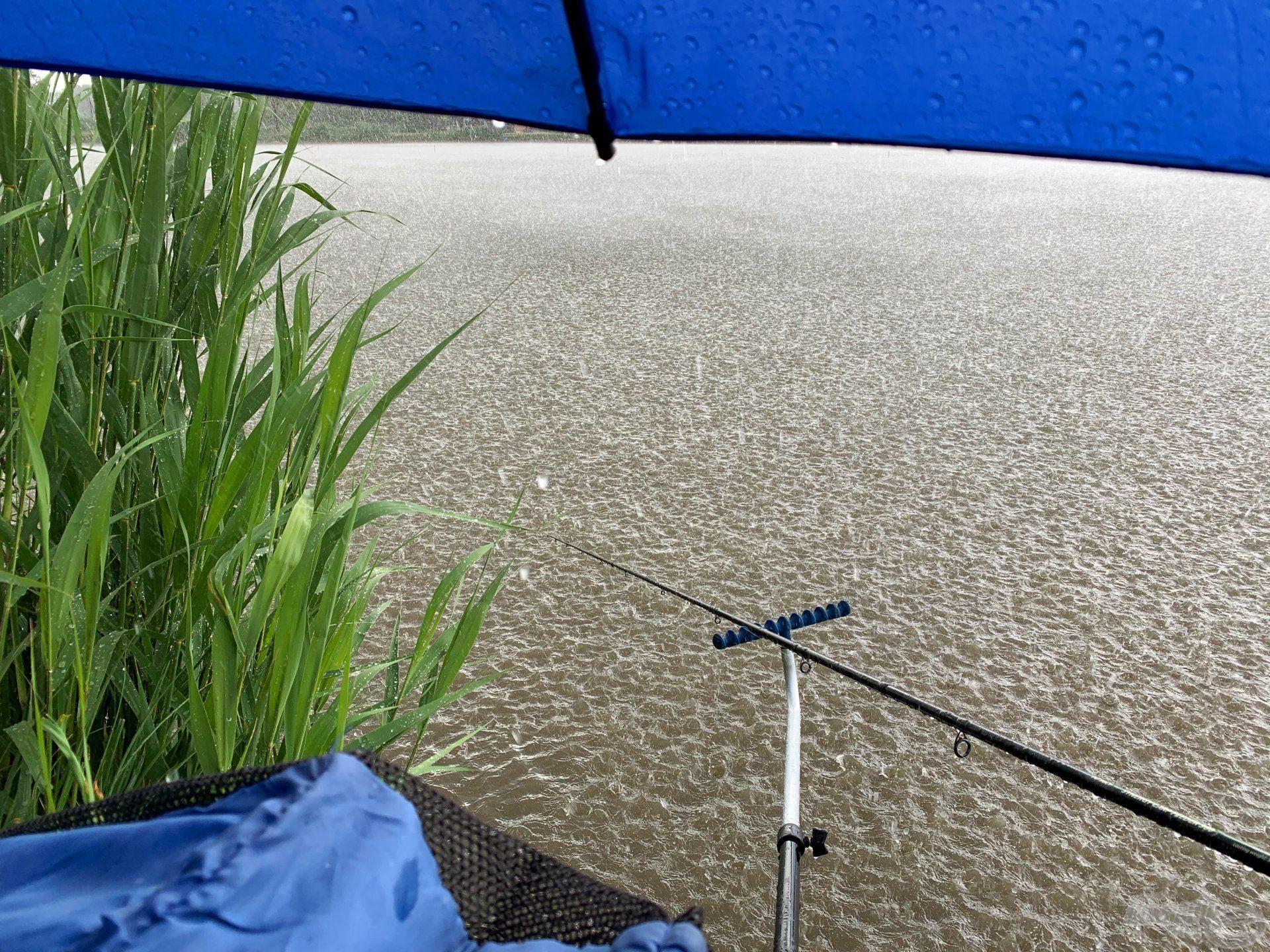 Az ernyőnek köszönhetően folytathattam a horgászatot