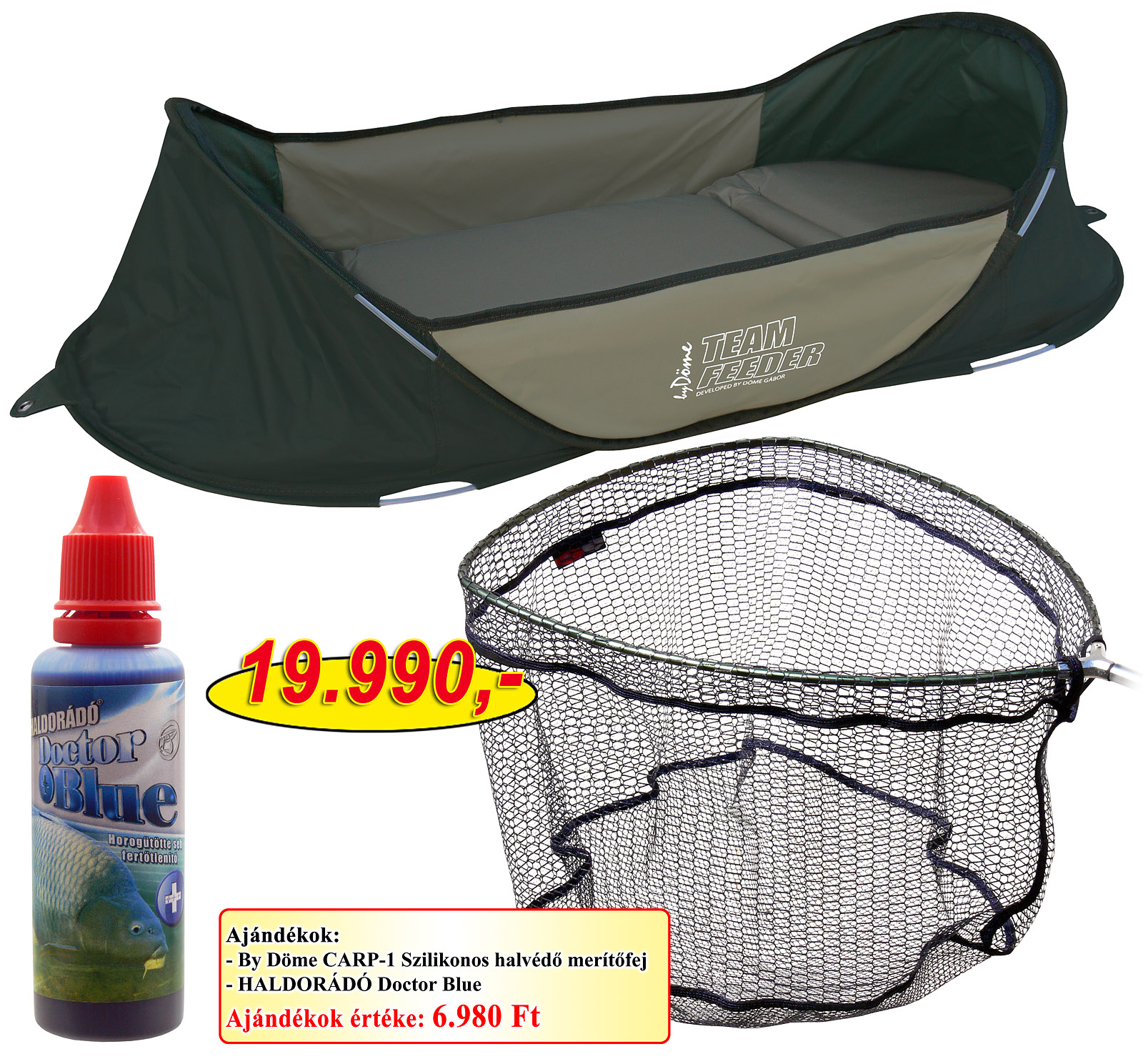 Haldorádó Hideg vízi nagyhalas csomag + ajándék vödör