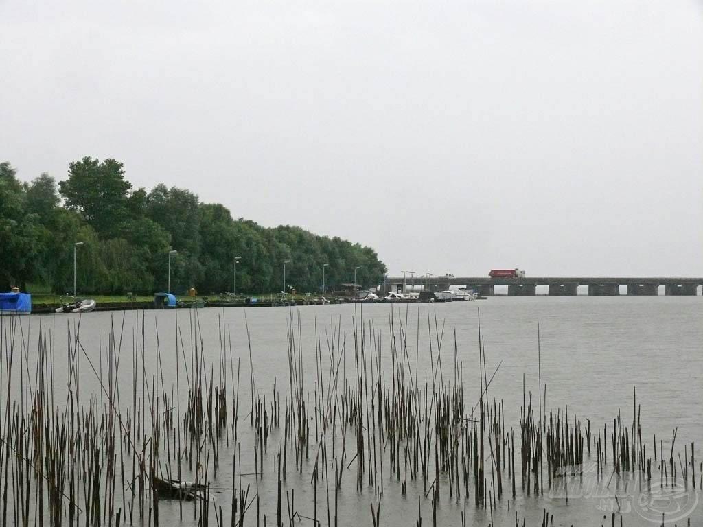 Poroszló határában, a Tiszafüredre vezető híd lábánál található Fűzfa hajókikötőben horgásztam