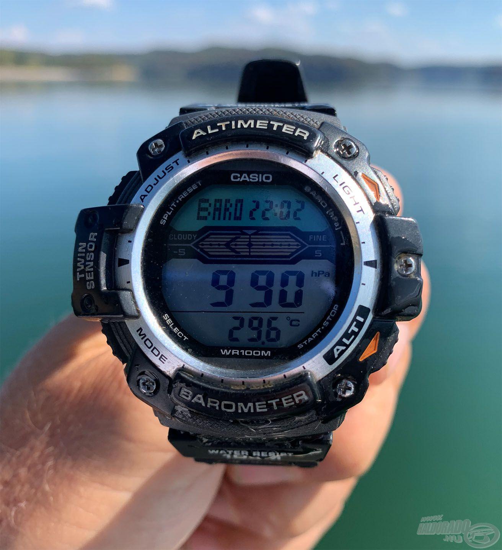 A víz hőmérséklete (2 méter mélyen mérve) 29,6 Celsius-fok volt, finoman szólva is pezsgett az élet