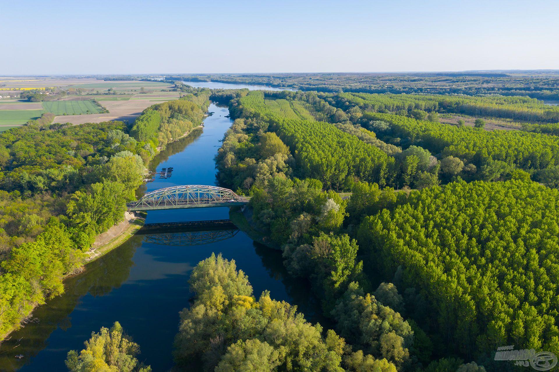 Gyönyörű, öreg, természetes vízterület, amelyet a Dunaföldvári Sporthorgászok Egyesülete gondoz