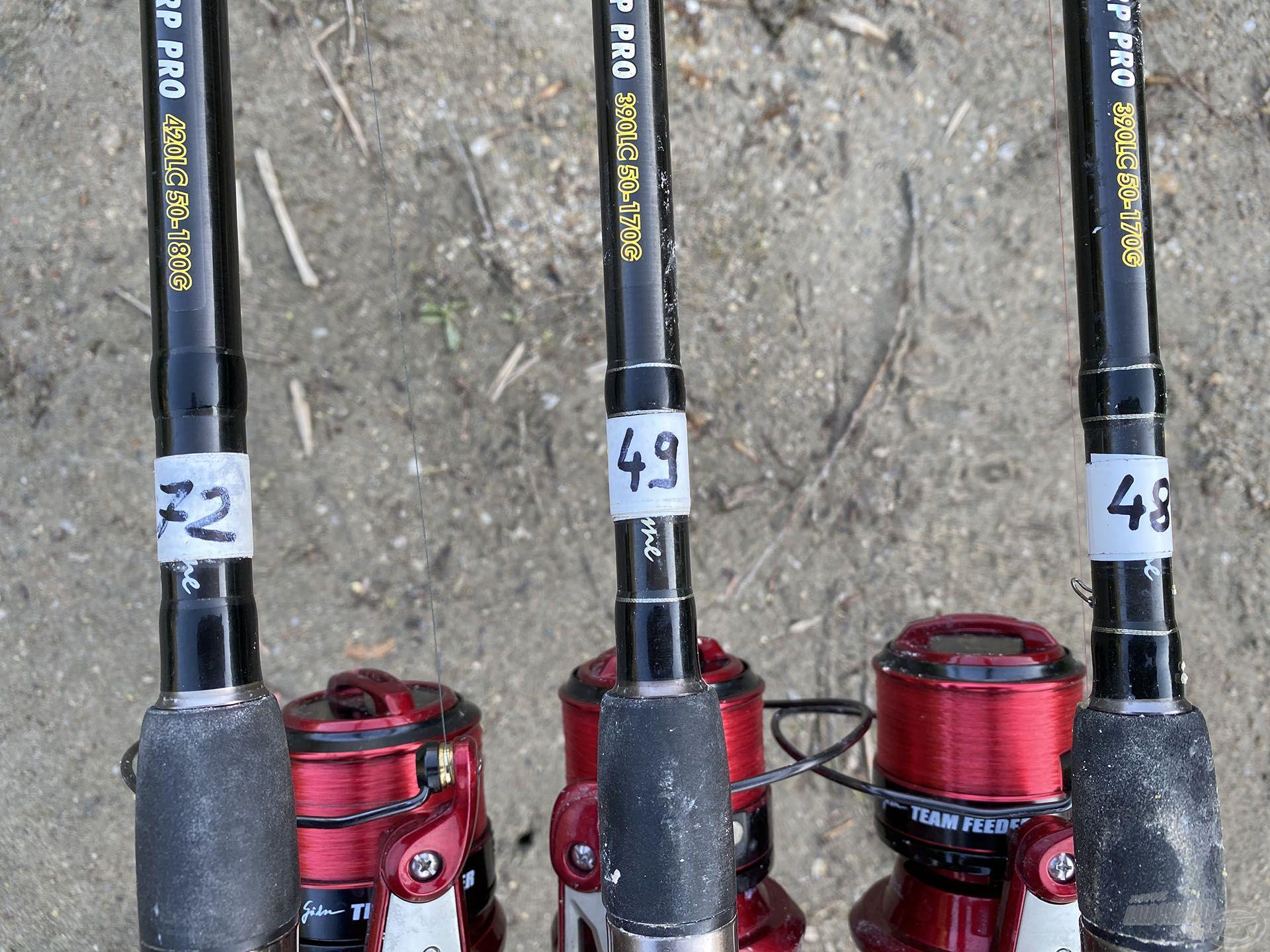 48, 49 és 72 méterre horgásztam és hajszálpontosan az ígéretes nyiladékokat dobtam