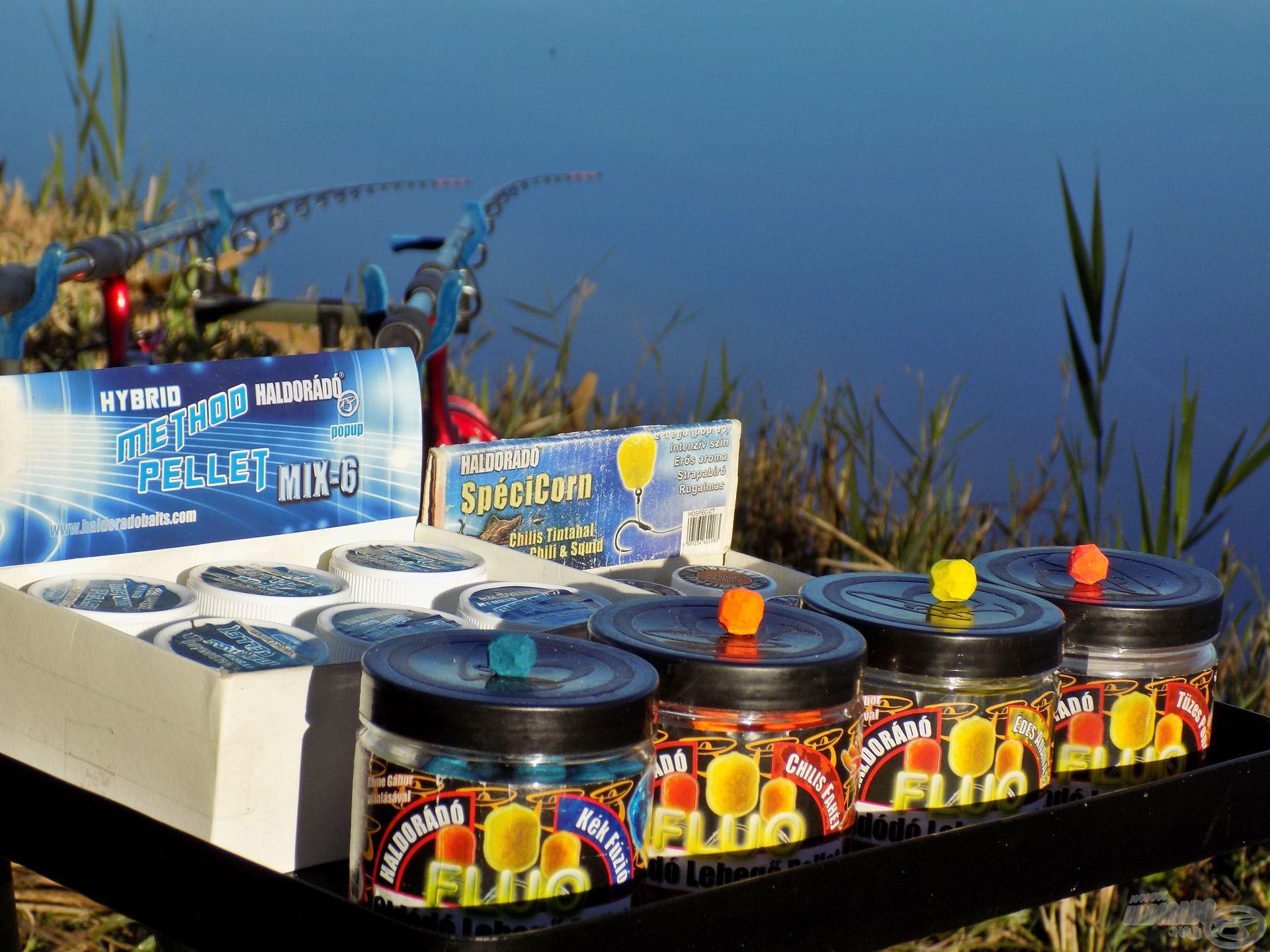A Haldorádó csalipalettája számtalan lehetőséget biztosít a horgászok számára. Én a legtöbb esetben megfaragva használom ezeket a pelleteket, így még gyorsabban, még attraktívabban dolgoznak