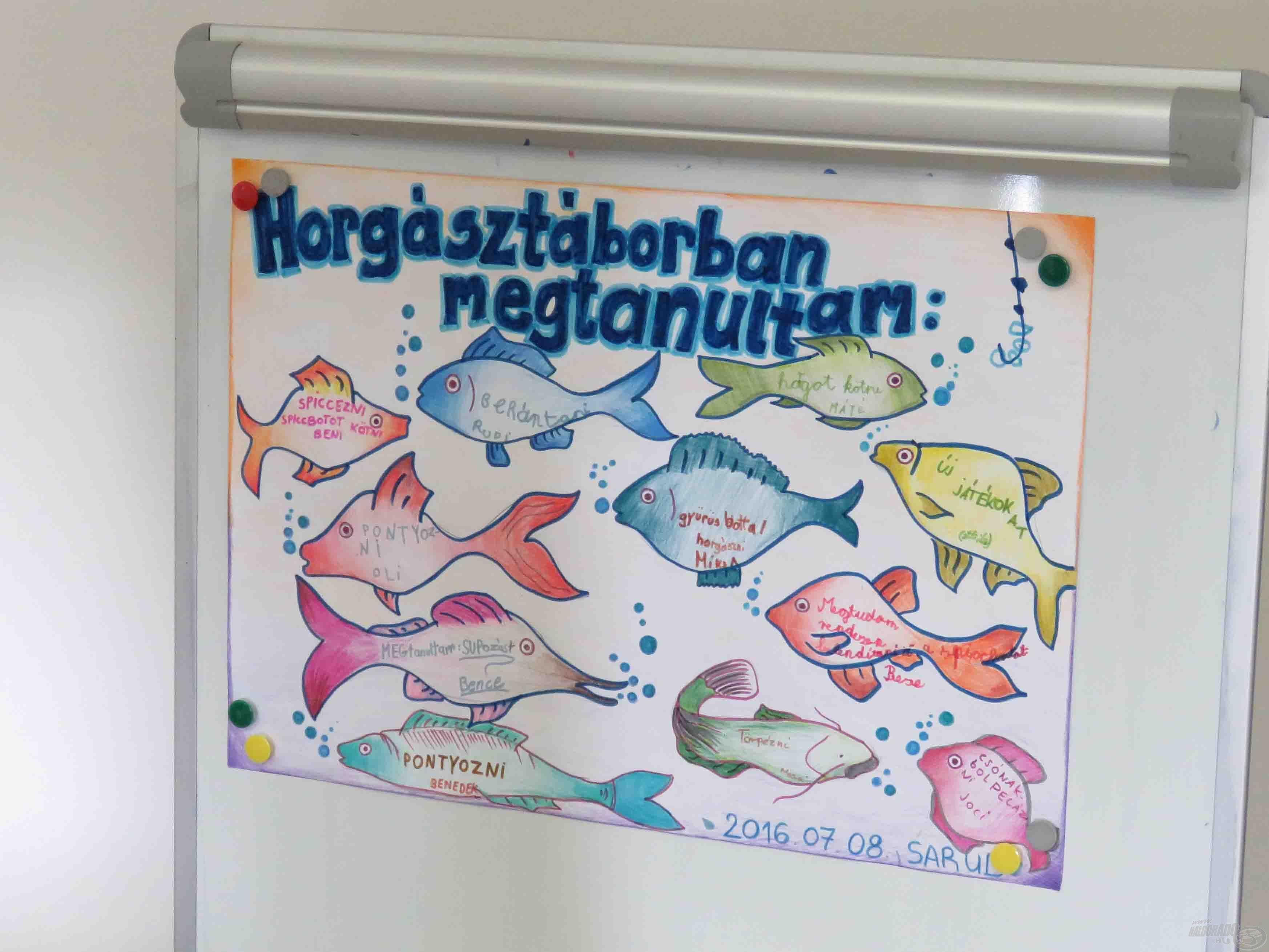 A horgásztáborban mindenki tanul valamit