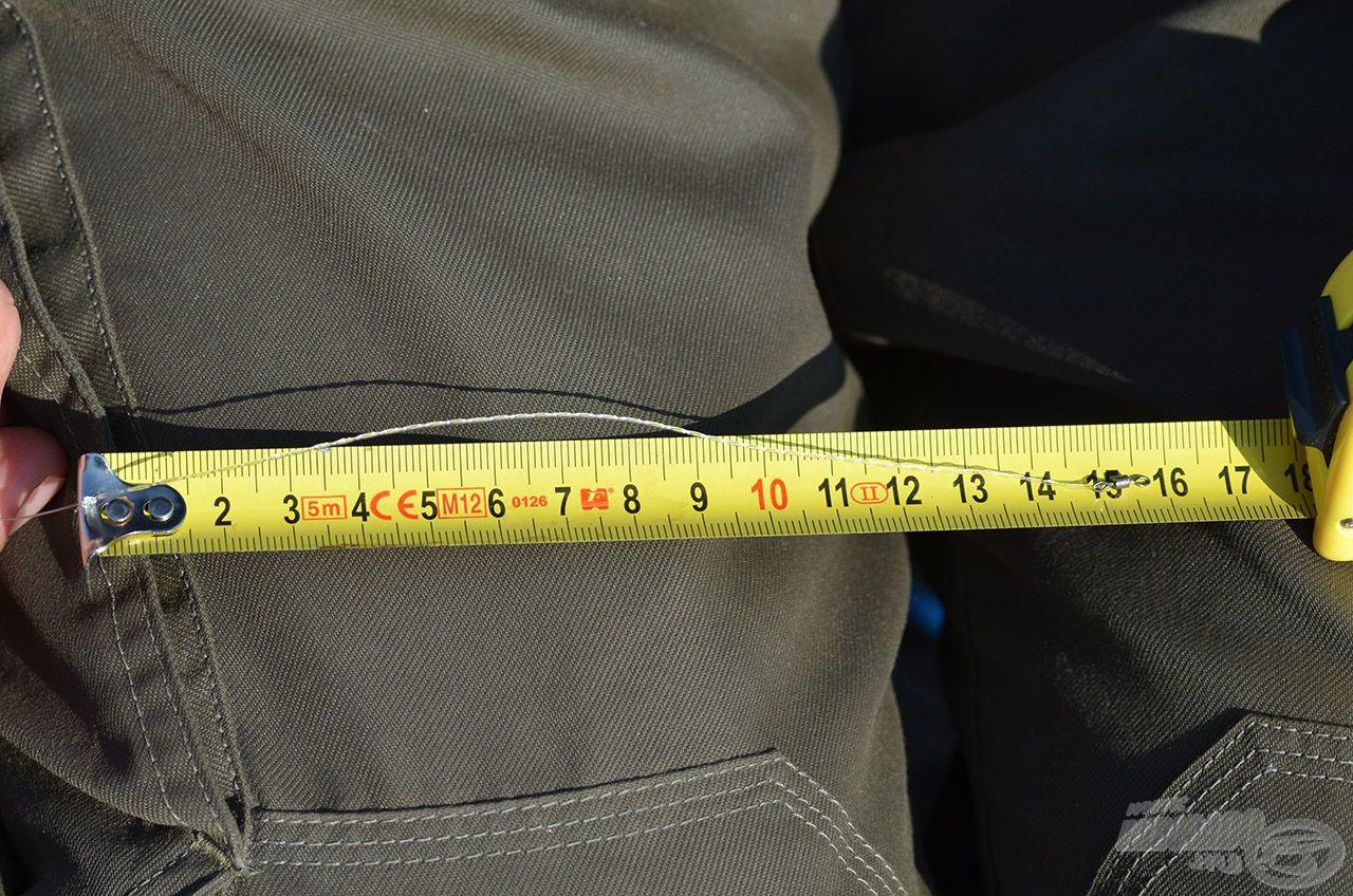 A fonat hossza 15 cm legyen!