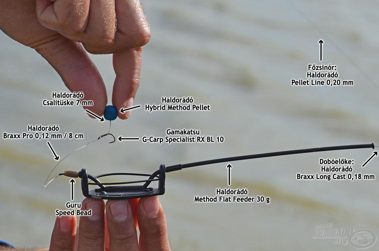 Másik végszerelékünk a Haldorádó Method Flat Feederre alapult