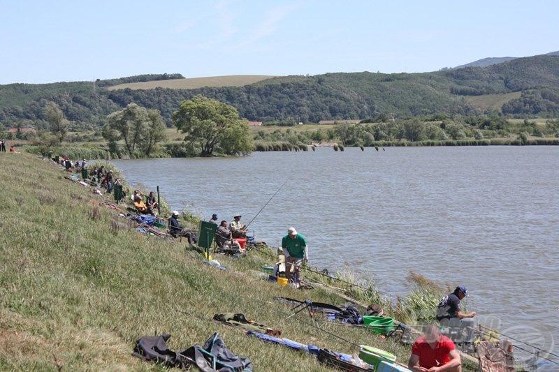"""Az erős szél az """"A"""" szektorra tolta a halakat, itt került a legtöbb hal horogra"""