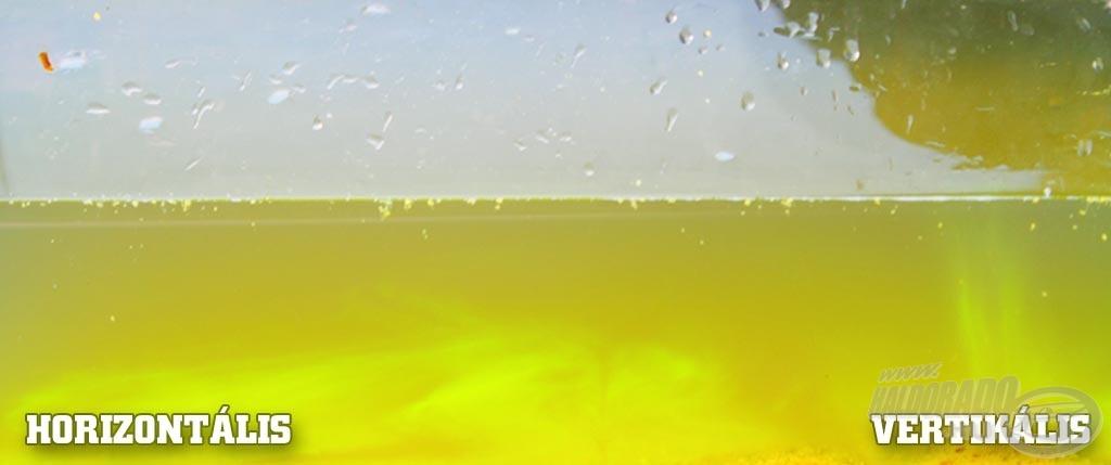 A koncentrátumból kétféle típus kerül majd forgalomba: az egyik fajta folyadék a vízoszlopot vertikálisan, míg a másik a mederfenéken elterülve, horizontálisan színezi meg