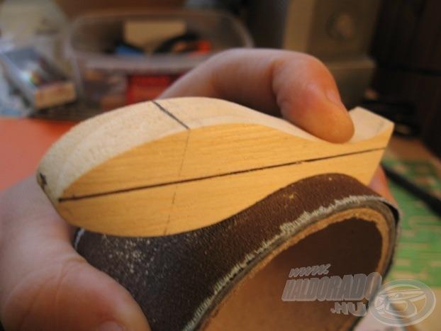 Hengerpalást felület a homorú részek csiszolásához