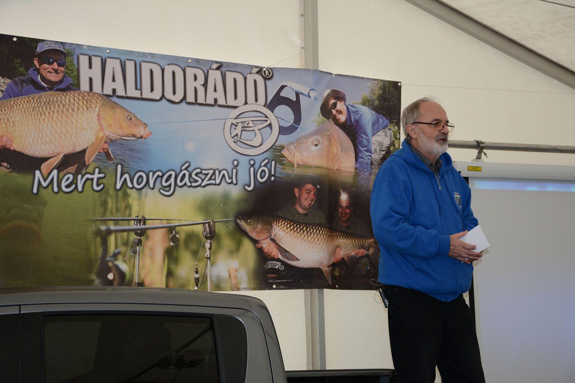 Kozári Miklós (MOHOSZ) a versenyhorgászat témakörről tartott egy igazán sokszínű előadást