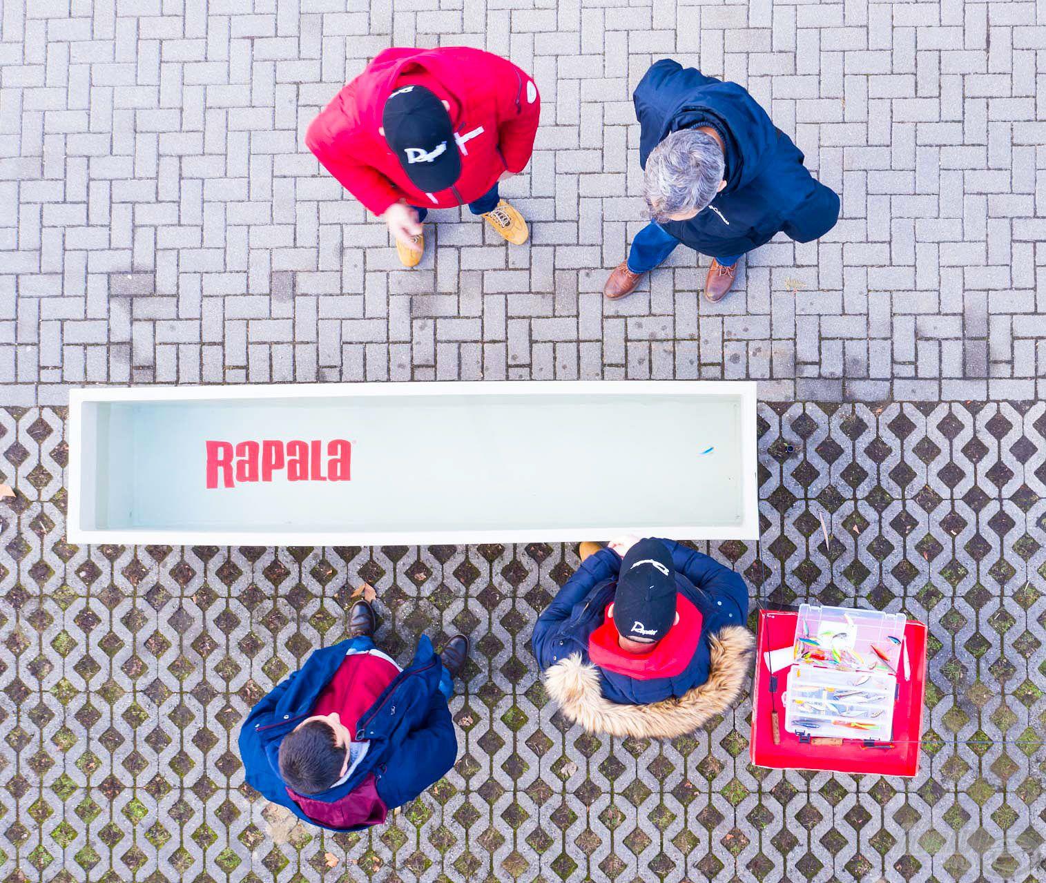Folyamatosan zajlottak a rapid bemutatók a Rapala tesztmedencénél is
