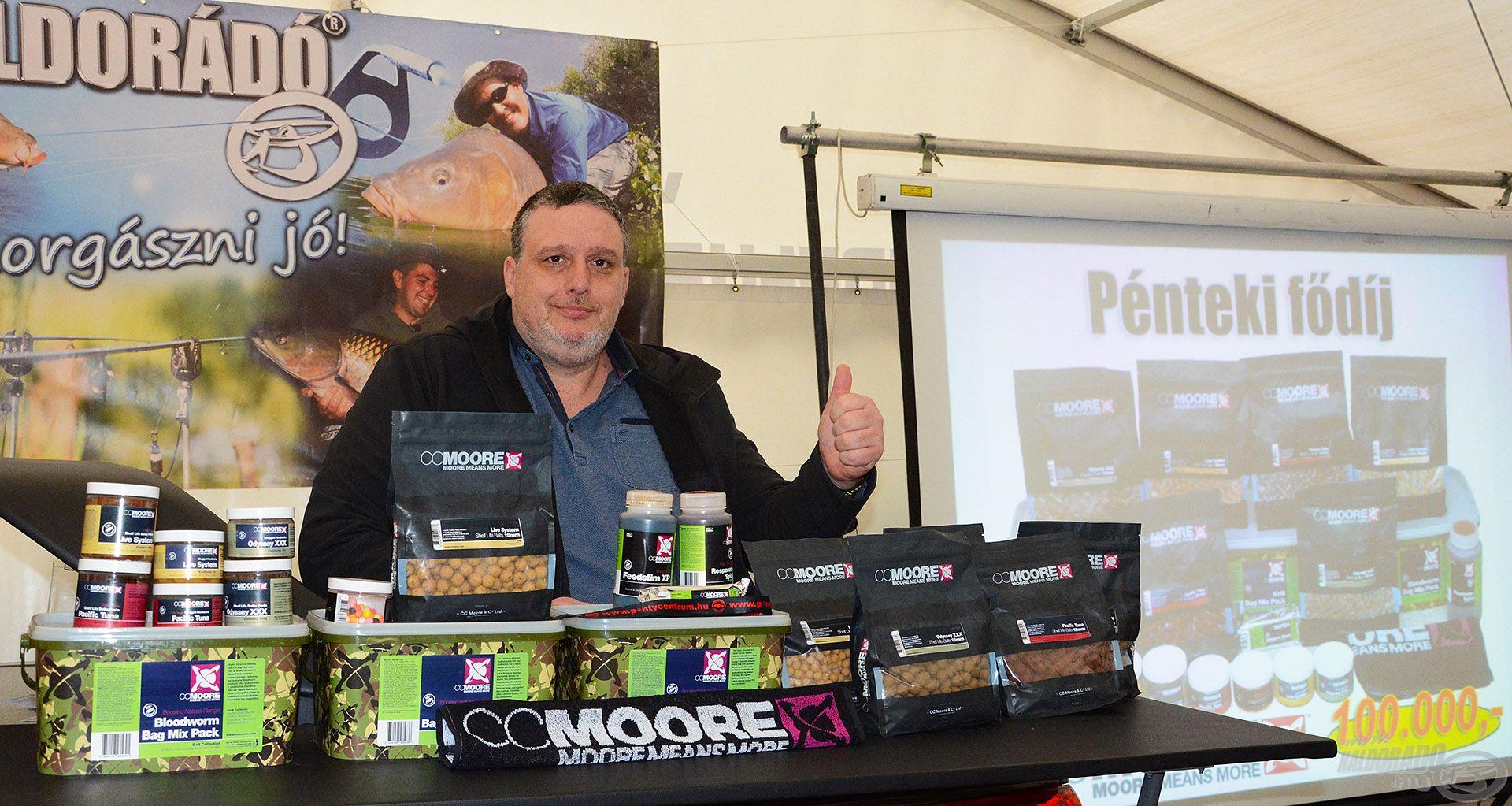 András nyereménye egy 100.000 forint értékű CCMore ajándékcsomag