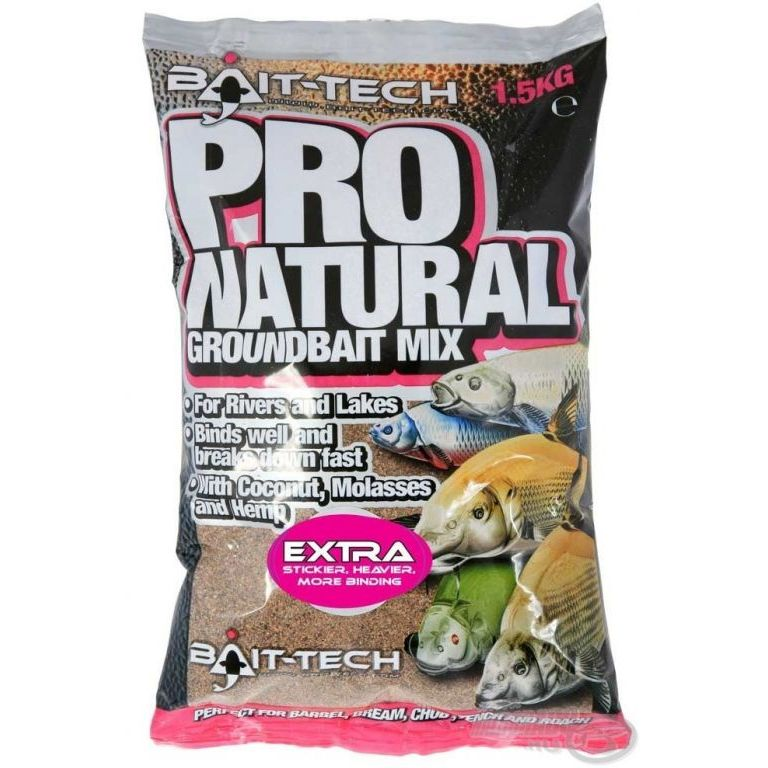 Bait-Tech Pro Natural Extra Groundbait 1,5 kg