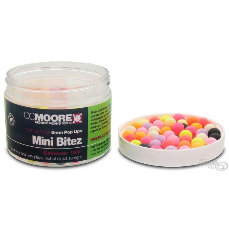 CCMoore Mini Bitez 8 mm Pop Ups - Vegyes színű natúr ízű