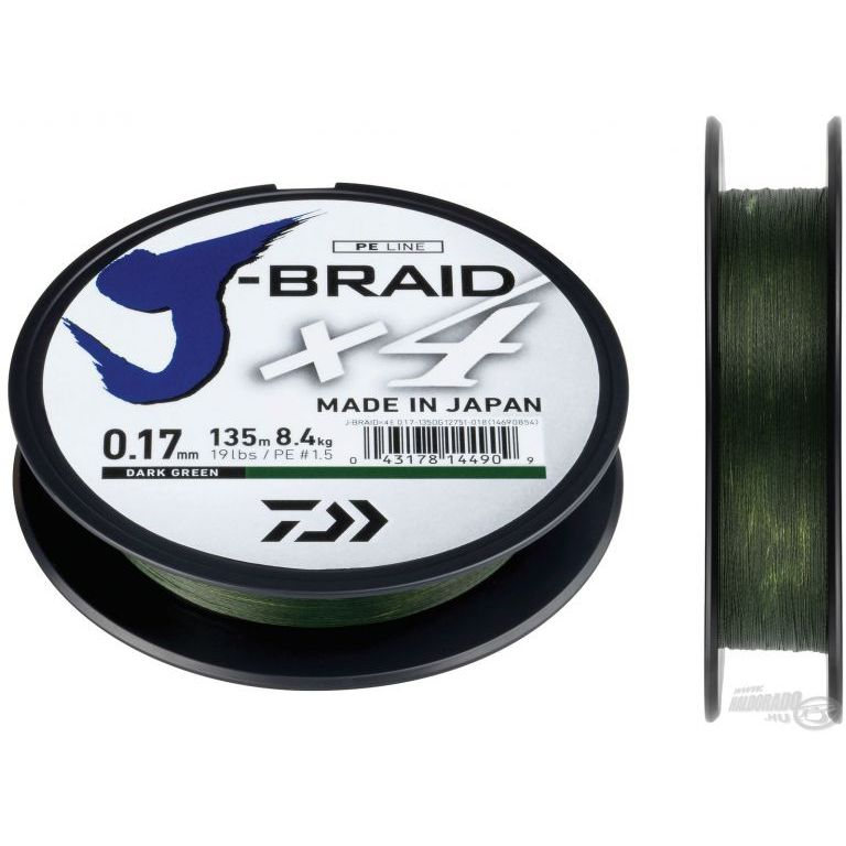 DAIWA J-Braid X4E 0,13 mm 135 m