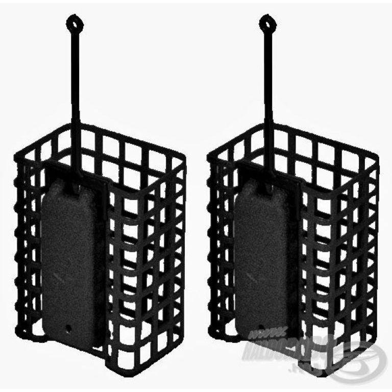 DEÁKY Drótos feederkosár szögletes - 80 g - 2 db