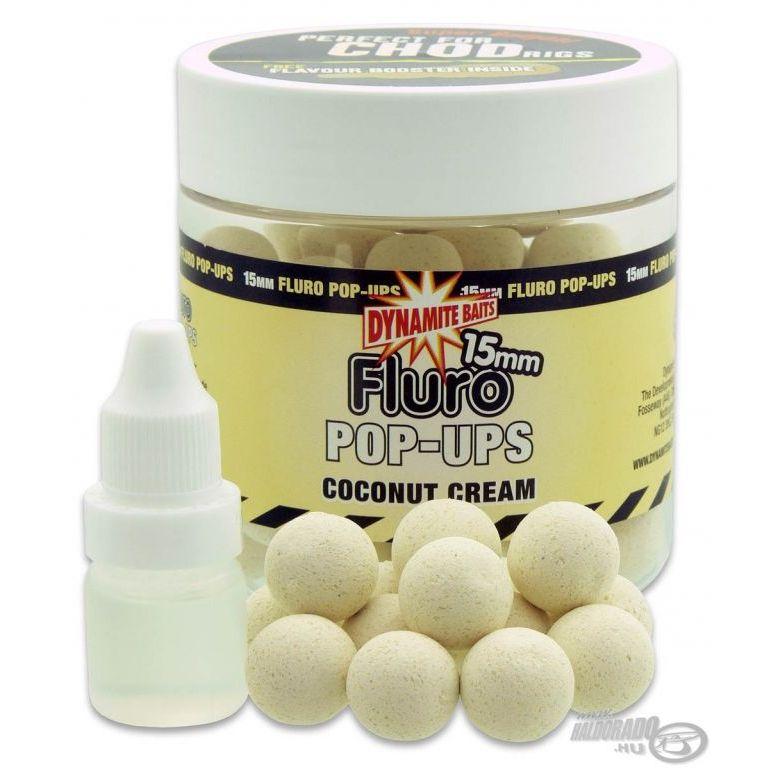 Dynamite Baits Fluro Pop Up bojli Coconut Cream 15 mm
