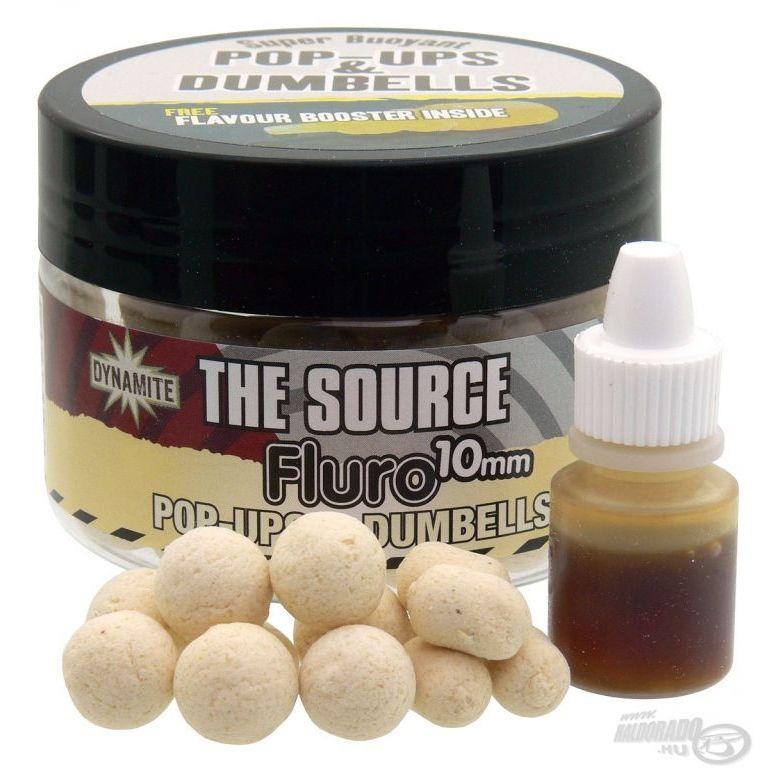 Dynamite Baits The Source Fluro Pop Ups & Dumbells 10 mm