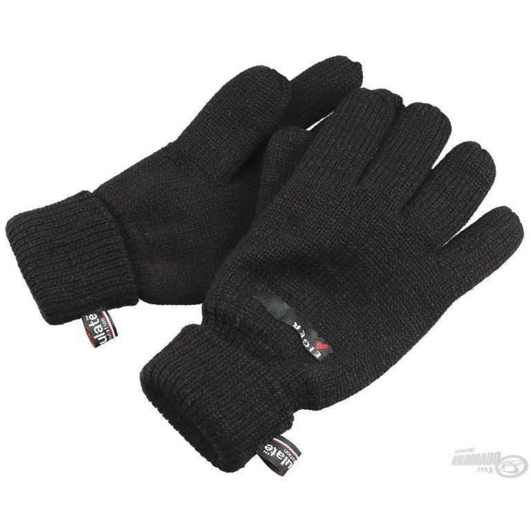 EIGER Kötött Thinsulate kesztyű fekete XL