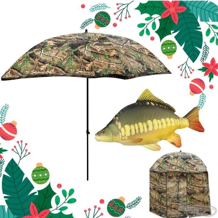 ENERGOTEAM Karácsonyi Outdoor Sátrasernyő szett + Ajándék ponty párna
