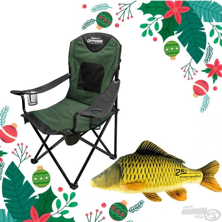 ENERGOTEAM Karácsonyi Outdoor szék szett + Ajándék pikkelyes ponty baby párna