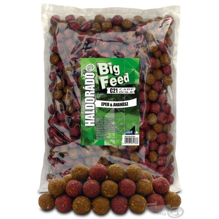 HALDORÁDÓ Big Feed - C21 Boilie - Eper & Ananász 2,5 kg