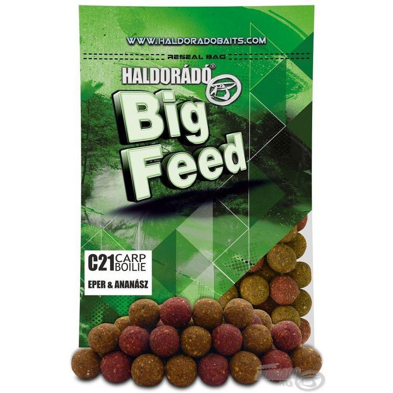 HALDORÁDÓ Big Feed - C21 Boilie - Eper & Ananász 800 g