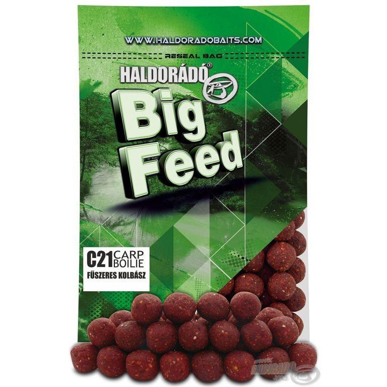 HALDORÁDÓ Big Feed - C21 Boilie - Fűszeres Kolbász 800 g