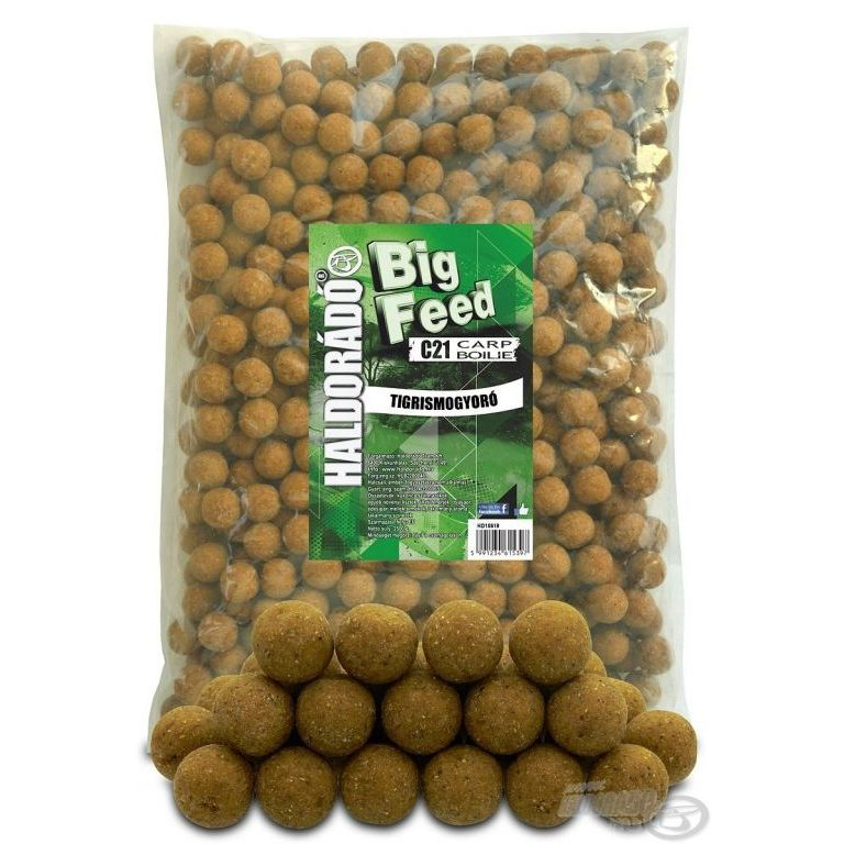 HALDORÁDÓ Big Feed - C21 Boilie - Tigrismogyoró 2,5 kg
