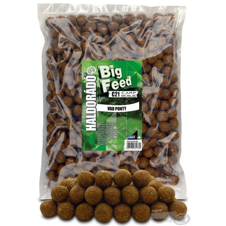 HALDORÁDÓ Big Feed - C21 Boilie - Vad Ponty 2,5 kg