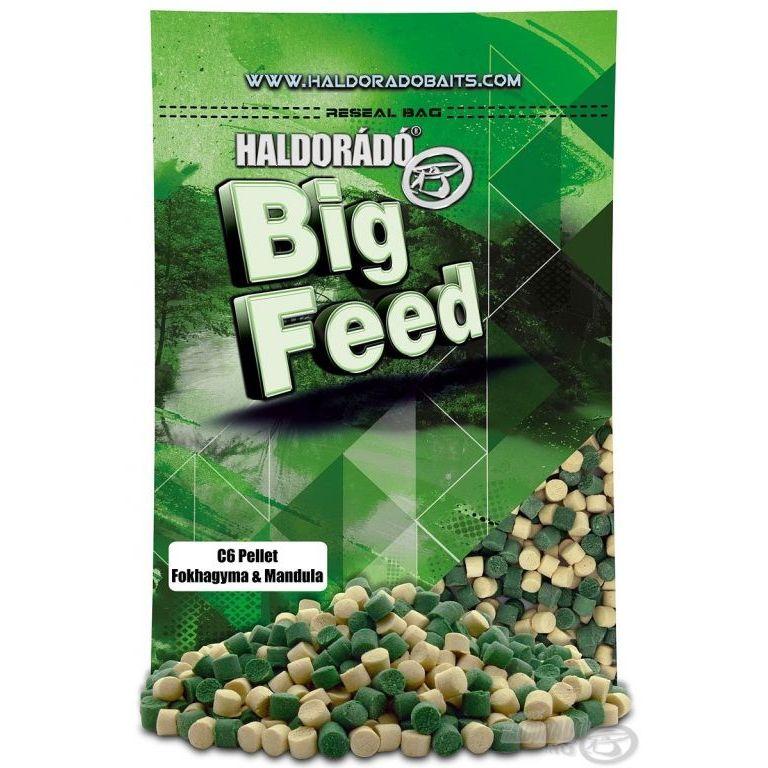 HALDORÁDÓ Big Feed - C6 Pellet - Fokhagyma & Mandula 900 g