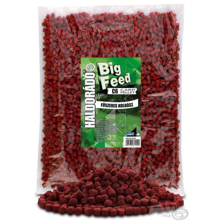 HALDORÁDÓ Big Feed - C6 Pellet - Fűszeres Kolbász 2,5 kg