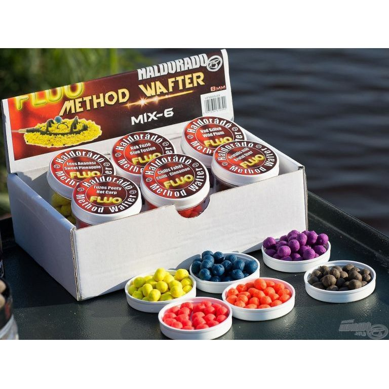 HALDORÁDÓ Fluo Method Wafter - MIX-6 /  6 íz egy dobozban