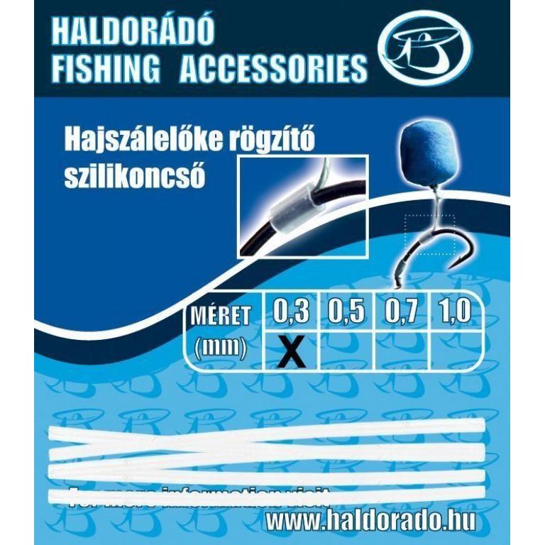 HALDORÁDÓ Hajszálelőke rögzítő szilikoncső 0,3 mm
