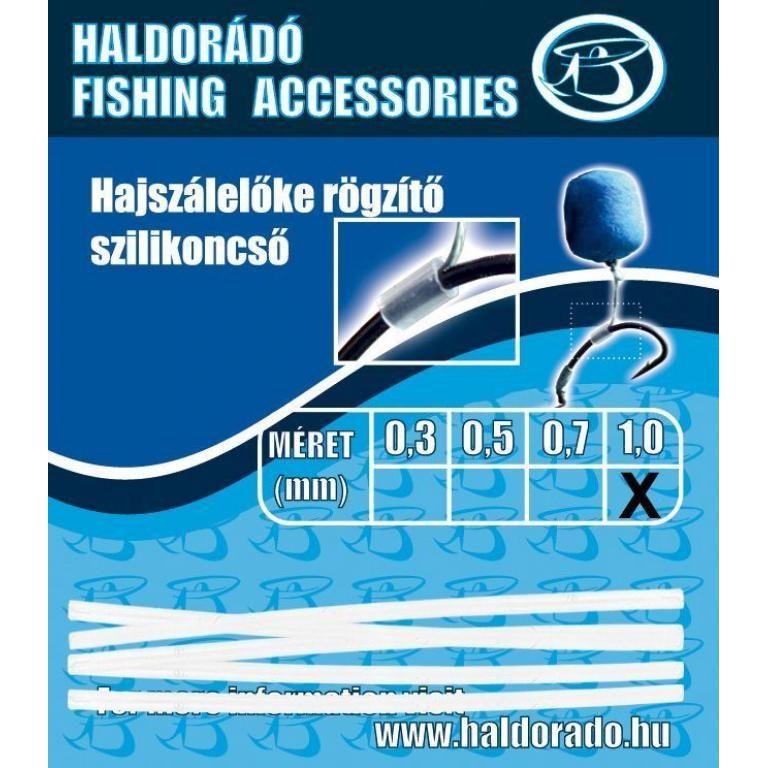 HALDORÁDÓ Hajszálelőke rögzítő szilikoncső 1,0 mm